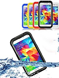 tanie -Kılıf Na Samsung Galaxy Samsung Galaxy Etui Wodoodporny / Transparentny Pełne etui Solidne kolory PC na S5 / S4 / S3