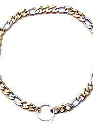 Недорогие -домашнее животное высокого качества ожерелье титана стали и воротники из нержавеющей стали для собак