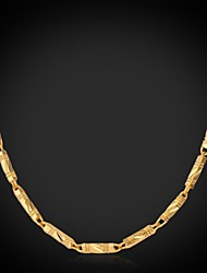 cheap -U7® Cool Chunky Necklace 18K Real Gold Plated Classical Link Chain Necklace Fashion Jewelry for Men