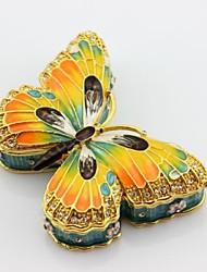 caixa de jóias esmalte porta treco borboleta pewter