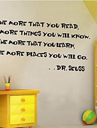 настенные наклейки Наклейки на стены, домашний декор dr.seuss слово говорят цитаты росписи ПВХ стены стикеры