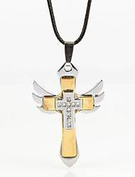 крыло крест распятие горный хрусталь цинкового сплава ожерелье Мужская (1 шт)