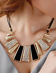 cheap -Women's Rhinestone Imitation Diamond Statement Necklace  -  Fashion European Geometric Irregular Black Necklace For Party Daily Casual