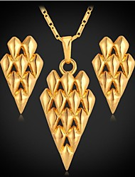 Недорогие -u7® серьги ожерелье 18k позолоченный фантазии треугольник моды комплекты ювелирных изделий