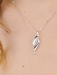 925 Silver Willow Pendant With Cubic Zirconia