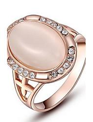 Недорогие -женская Рокси изысканный розово-золотой покрытием эллиптические кольца перлы