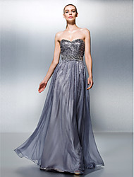 cheap -A-Line Sweetheart Floor Length Tencel Prom Dress with Beading Sequins by TS Couture®