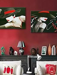 personalizado impressão em tela e-home® a mulher 35x50cm 40x60cm 50x70cm enquadrado canvas conjunto pintura de 2