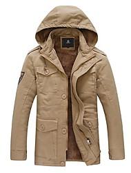 Недорогие -мужская зима теплая хлопка пальто толстый слой