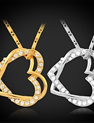 Women's Choker Necklaces Pendant Necklaces Collar Necklaces Vintage Necklaces PendantsCopper Rhinestone Platinum Plated Gold Plated