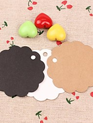 Round Kraft Paper Hang Tags Lables for Bookmark Gift Handmade Soap Favors Wedding Party Cards Set of 50(More Colors)