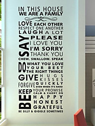 cheap -Words & Quotes Still Life Fashion Shapes People Abstract Fantasy Wall Stickers Plane Wall Stickers Decorative Wall Stickers Material