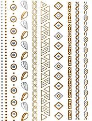 Séries de Jóias Tatuagem Adesiva - Estampado/Purpurina - para Feminino/Girl/Adulto/Adolescente - de Papel - Multicolorido - #(27*14.5*0.1)