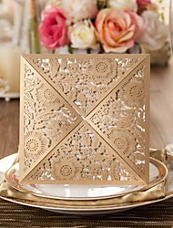 cheap -Gorgeous Flora Design Wedding Invitation-Set Of 50(More Colors)