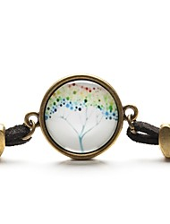 Time Gem Peace Life Tree Pendant Necklace Art Tree Glass Cabochon Bracelet (1 Piece)