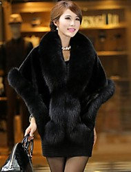 cheap -Long Sleeves Faux Fur Wedding Party Evening Fur Wraps Capelets