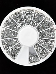 economico -Decorazioni di arte strass acrilico chiodo 3600pcs argento (2 mm)