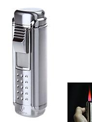 Недорогие -4705 стильный четыре пламени фонарик стиль цинка сплав ветрозащитный бутан зажигалка (ассорти цветов)