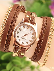 cheap -Women's Fashion Leather Chained Japanese Quartz Watch(Assorted Colors) Cool Watches Unique Watches Strap Watch