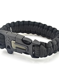 cheap -Outdoor Camping Survival Gear Paracord Brecelet Magnesium Stone Flint Fire Starter Whistle Buckles