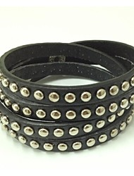cadeau main de punk bracelet bling strass envelopper bracelets en cuir PU bangle