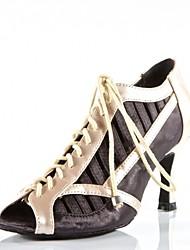 Praxis Schuhe Frauen Fersen Pfennigabsatz Satin-ups Tanzschuhe (weitere Farben)