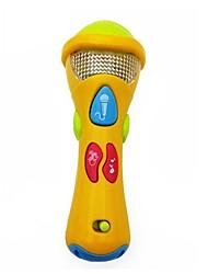 Недорогие -1шт желтый пластиковый музыка микрофон игрушка для ребенка раннего образования (мой первый микрофон)