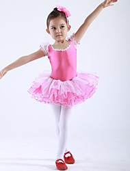 economico -Abbigliamento da ballo per bambini Top / Abiti/Gonne / Tutù Per bambini Chiffon / Elastene Maniche corte