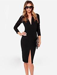 Недорогие -Европейский тренд моды случайные дешевые платья ou.bai.li женщин