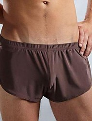 cheap -Men's Sexy Solid Boxers Underwear,Nylon Ice Silk