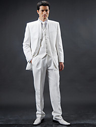 cheap -White Polyester Slim Fit Four-Piece Tuxedo