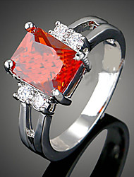 cheap -Women's Cubic Zirconia Statement Ring - Luxury Fashion White Red Blue Ring For Party