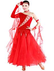 economico -abiti da ballo indossano abiti da donna eleganti in tulle di velluto classico