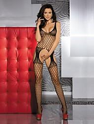 Ultra Sexy Vêtement de nuit Femme Couleur Pleine Nylon Noir