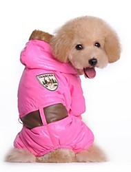 abordables -Perro Abrigos Ropa para Perro Letra y Número Azul Rosa Algodón Disfraz Para mascotas Cosplay