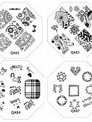 1pc neue Nagel, der Bild-Platten chic Spitzeblumen Liebe Platte für diy Nail Art Verzierungen (verschiedene Muster)