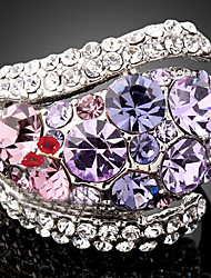 cheap -Women's Statement Ring Purple Screen Color Cubic Zirconia Imitation Diamond Alloy Luxury Fashion Party Costume Jewelry