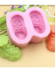 cheap -Baby Shoes Shaped Fondant Cake Chocolate Silicone Mold Cake Decoration Tools,L8.5cm*W7.2cm*H4.5cm