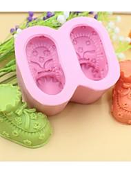 Недорогие -детская обувь формы помады торт шоколадный силиконовые формы торт украшение инструменты, l8.5cm * w7.2cm * h4.5cm