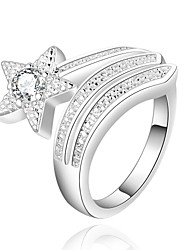 cheap -Ring Women's Cubic Zirconia Silver Silver 8 Silver The color of embellishments are shown as picture.