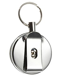 cheap -Key Chain Circular High Quality Key Chain / Retractable Silver StainlessSteel