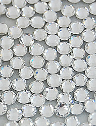 1400PCS White Flatback Glass Gems 4mm Handmade DIY Craft Material/Clothing Accessories