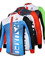 cheap -Arsuxeo Men's Long Sleeves Cycling Jersey - Black/Green White+Red Bule/Black Bike Jersey, Quick Dry, Anatomic Design, Breathable
