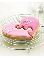 cheap -Valentine's Love Heart to Heart Jigsaw Shape Cookie Cutter, Stainless Steel