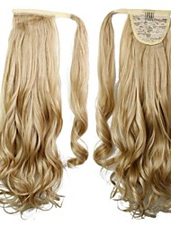 cheap -Curly Ponytails Synthetic Hair Piece Hair Extension Blonde Daily