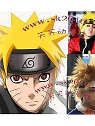 Parrucche Cosplay Naruto Naruto Uzumaki Oro Corto Anime Parrucche Cosplay 30 CM Tessuno resistente a calore Uomo