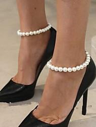 economico -vacanza da sposa in cavigliera da donna in metallo per scarpe