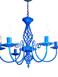 Luz E14x5 Céu Azul Lustre Pingente moderno para Quarto Sala