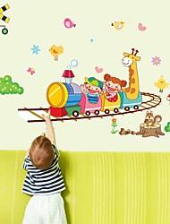 billige -Dyr Tegneserie Vægklistermærker Animal Wall Stickers Dekorative Mur Klistermærker, Vinyl Hjem Dekoration Vægoverføringsbillede Væg