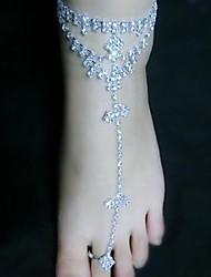 cheap -Metal Barefoot Sandals Women's Wedding Vacation Silver